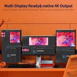 T-bao MN48H Mini PC with AMD R7 4800H Processor AMD Radeon Graphics GPU 16GB+1TB Reminiscence Home windows 10 Working System UK Plug